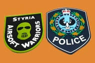 2 police patches